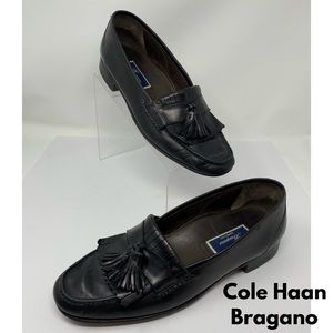 Cole Haan Bragano Black Leather Loafers